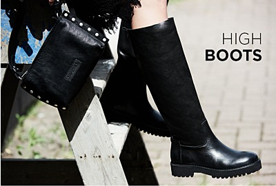 High boots for colder days