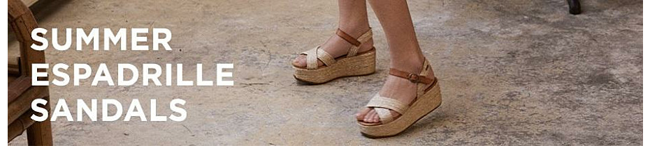Summer espadrille sandals