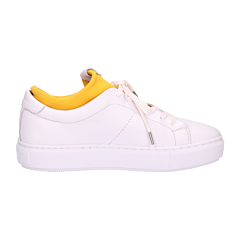 White-sneaker-smooth-leather-with-neoprene-sock-yellow