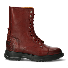 Lace-up-boot-with-crocoprint-Red-Brown