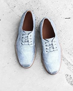 Lace-up-shoe-shiny-printed-leather-Silver