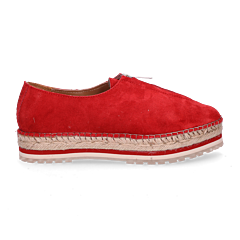 Espadrille-loafer-with-zipper-front-suede-red