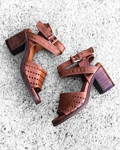Sandalet-perforated-smooth-leather-Cognac