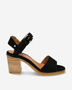 Black-suede-strappy-sandal
