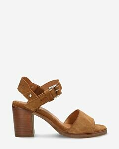 Heeled-sandalette-with-brown-suede