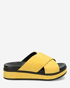 Slipper-with-covered-wedge-yellow
