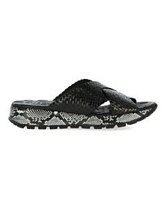 Black-slipper-with-snake-print-sole-