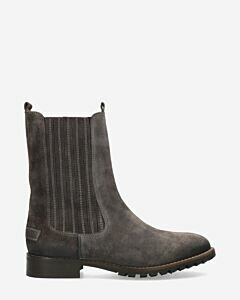 Ankle boot waxed suede grey