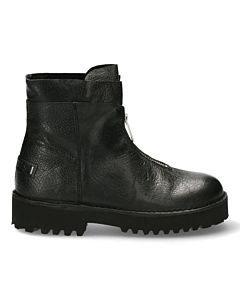 Ankle-boot-with-zipper-on-front-Black