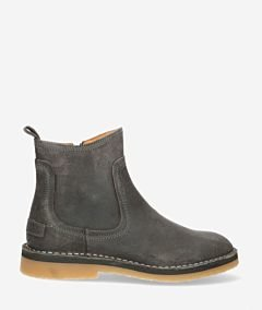 Ankle-boot-with-zipper-waxed-suede-dark-grey