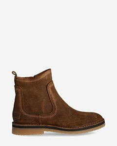 Brown-ankle-boot-waxed-suede-with-zipper