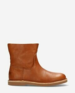 Ankle boot smooth leather cognac