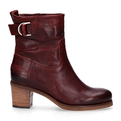 Ankle-boot-with-buckle-red/brown