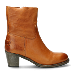 Heeled-ankle-boot-with-zipper-Cognac