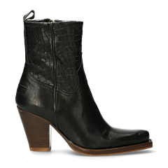 Western-ankle-boot-with-zipper-black