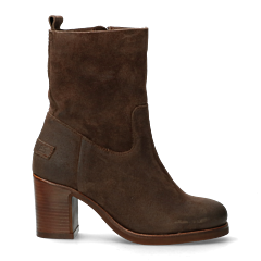 ANKLE-BOOT-HIGH-7,5-CM-WAXED-SUEDE-Dark-Brown