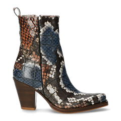 Western-boot-python-printed-leather