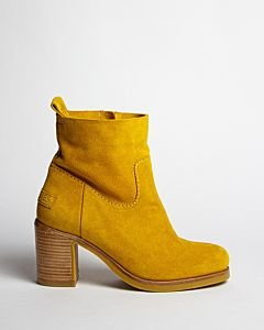 Yellow-suede-ankle-boot