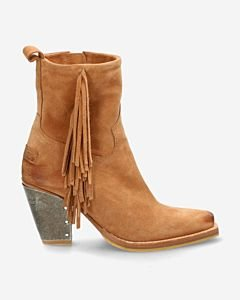 Light-Brown-suede-western-boot-with-fringes-