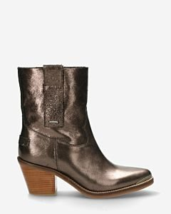 Western-boot-natural-metallic-leather-black