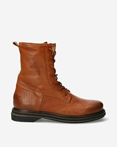 Veterboot-glad-leer-cognac