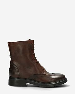 Biker-boot-glad-leer-donkerbruin