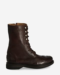 Bikerboot-smooth-leather-dark-brown