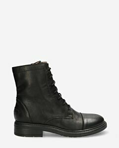Lace up boot smooth leather black