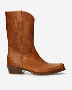 Western-boot-brown-grain-leather-
