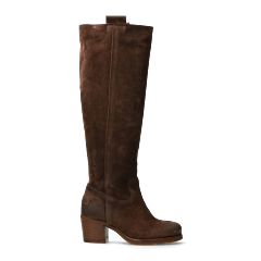 Tall-shaft-boot-from-waxed-suede-dark-brown