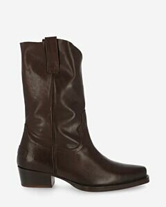 Western-boot-smooth-leather-darkbrown