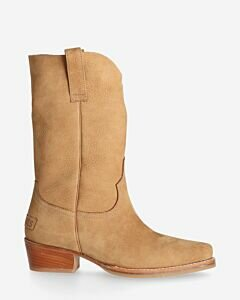 Westernboot-suede-brown