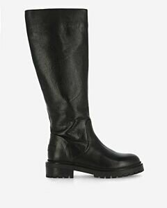 Boot waxed leather black