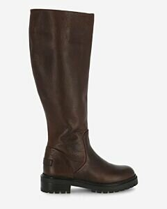 Boot waxed leather dark brown