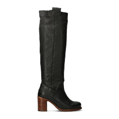 Tall-shaft-boot-grain-leather-black