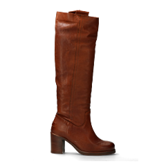 Tall-shaft-boot-grain-leather-cognac