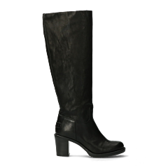 Heeled-boot-smooth-leather-black