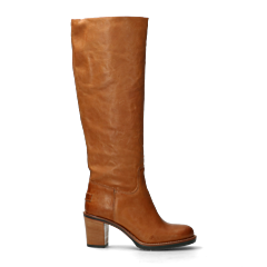 Heeled-boot-from-smooth-leather-cognac