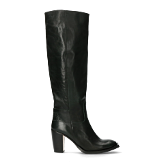 Heeled-boot-polished-dark-green