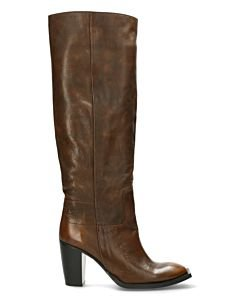 Heeled-boot-polished-brown