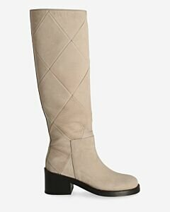 Boot leona hand sanded leather light grey