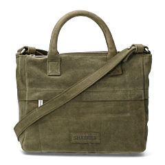 Handbag-waxed-suede-green