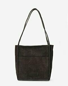 Shabbies Amsterdam Shoulder bag waxed suede grey