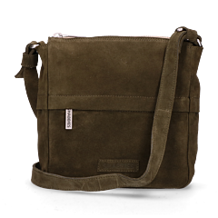 Shoulderbag-suede-Dark-Green