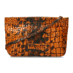 Cross-body-shiny-croco-printed-leather-orange