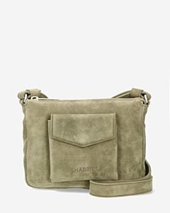 Shoulderbag-waxed-suede-green