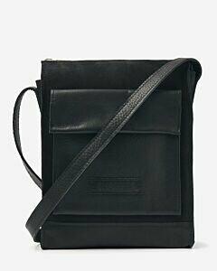 Crossbody bag leather-mix black