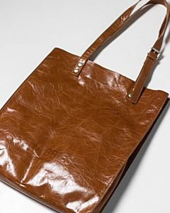 Tote-patent-leather-cognac