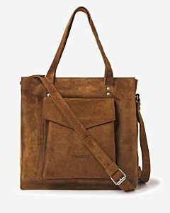 Shopper-waxed-suede-brown