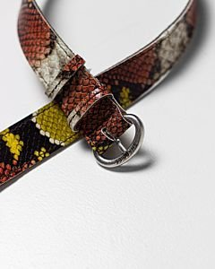 Multi-yellow-snake-print-belt